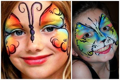 Чем рисуют на коже лица