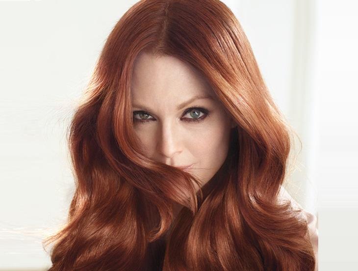 Медно бронзовый цвет волос