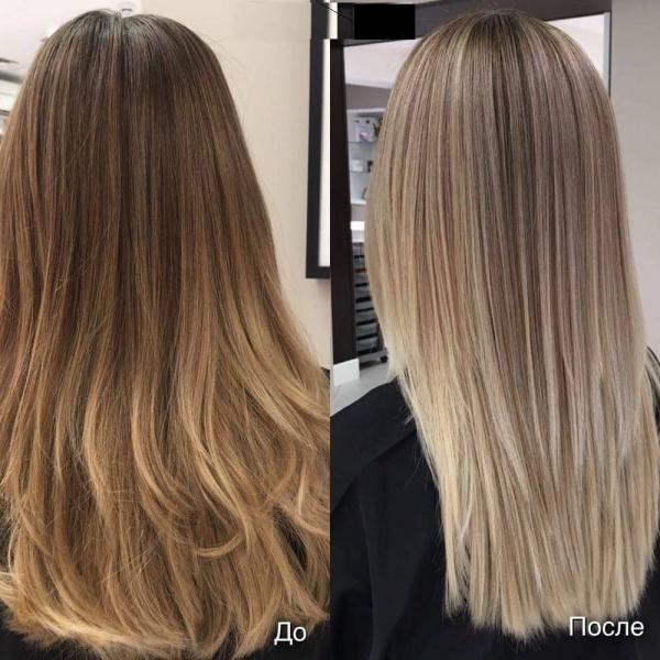 Мелирование на светло русый цвет волос