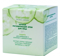 """Ночной регулирующий крем для лица для нормальной и жирной кожи Dr. Sante из серии Cucumber Balance control от НПО """"Эльфа"""""""