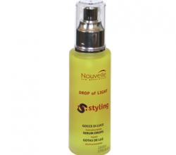 Средство для ухода и блеска волос на основе силикона Nouvelle Drop of Light от Новая Заря