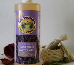 Успокаивающее кастильское мыло с лавандой от Dr. Woods