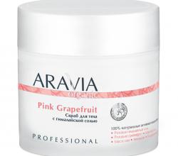 Скраб для тела с гималайской солью Pink Grapefruit из серии Organic от Aravia