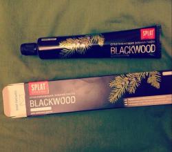 Черная зубная паста Blackwood от Splat