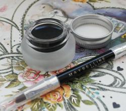 Гелевая подводка для глаз Eyestudio Lasting Drama gel eyeliner 24H (оттенок № 07 Black Chrome) от Maybelline