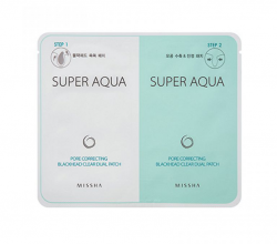 Пластырь для очищения носа Super Aqua Pore Correcting Blackhead Ckear Dual Patch от Missha