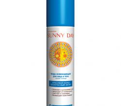 Освежающая вода для лица и тела после солнца от Sunny Day