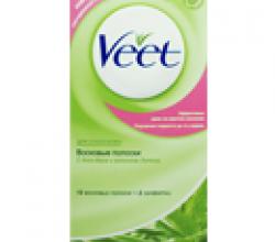 Восковые полоски для депиляции от Veet