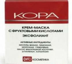 Крем-маска для лица с фруктовыми кислотами эксфолиант от Кора (1)