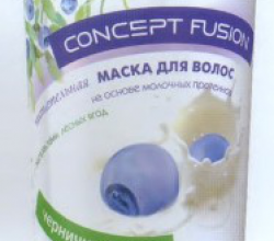 Маска для волос питательная «черничный мусс» на основе молочных протеинов с экстрактами лесных ягод от Concept