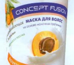 """Восстанавливающая маска для волос """"Фруктовый латте"""" на основе молочных протеинов от Concept"""