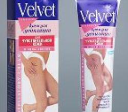 Крем депиляционный для чувствительной кожи от Velvet