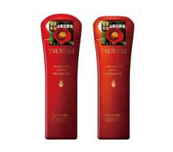 Шампунь и кондиционер для придания блеска Tsubaki Shining with Tsubaki Oil EX от Shiseido