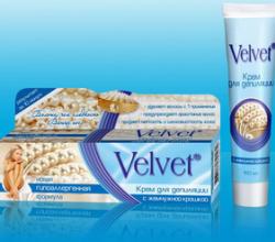 Крем для депиляции с жемчужной крошкой от Velvet