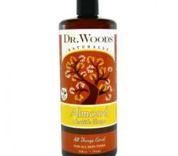 Миндальное кастильское мыло с маслом ши от Dr. Woods