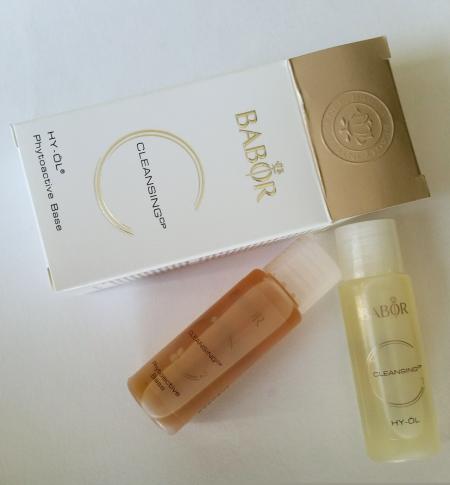 2-фазная система глубокого очищения лица: гидрофильное масло Cleansing HY-OL + средство для умывания для сухой кожи Phytoactive Base от Babor