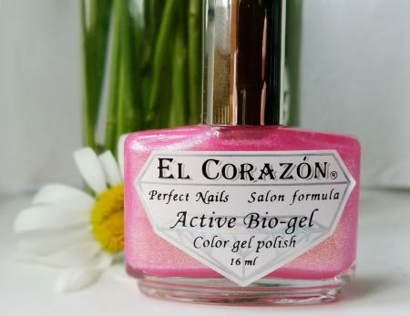 """Лак для ногтей Active Bio-gel """"Magic rosebud"""" (оттенок № 423/563) от El Corazon"""
