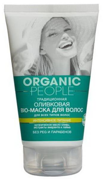 """Оливковая bio-маска """"Интенсивное питание"""" для волос для всех типов волос от Organic People"""