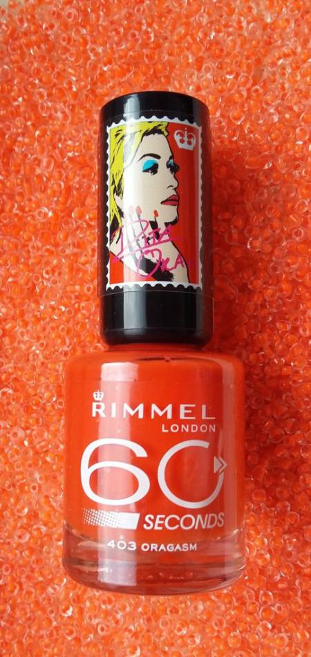Лак для ногтей 60 seconds Rita Ora (оттенок № 403 Oragasm) от Rimmel