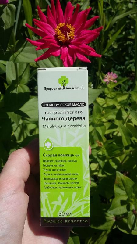 Косметическое масло чайного дерева от Природный антисептик