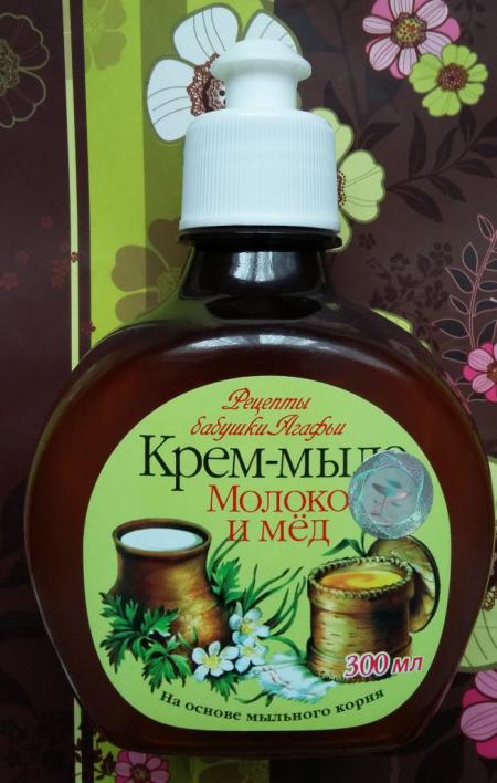 """Крем-мыло """"Молоко и мёд"""" от Рецепты бабушки Агафьи"""