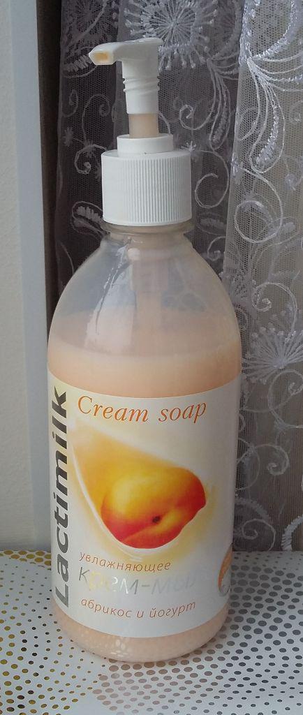 """Увлажняющее крем-мыло """"Абрикос и йогурт"""" от Lactimilk"""