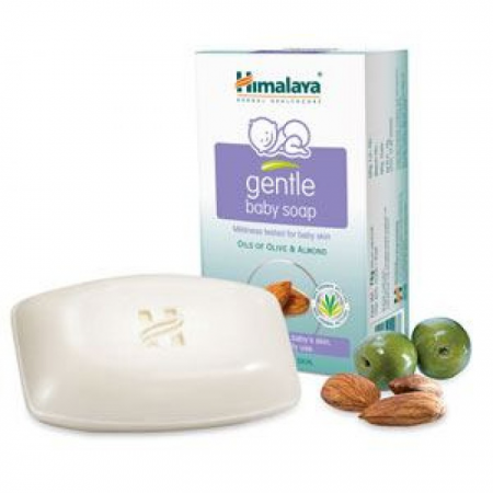 """Нежное детское мыло с маслом Оливы и Миндаля """"Gentle Baby Soap"""" от Himalaya Herbals"""