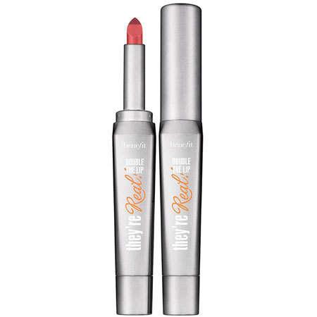 Губная помада-карандаш в мини-формате They're REAL! Double the Lip (оттенок Lusty Rose) от Benefit