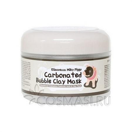 Маска для лица глиняно-пузырьковая Milky Piggy Carbonated Bubble Clay Mask от Elizavecca
