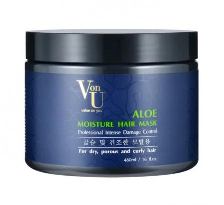 Маска для волос увлажняющая с алое вера ALOE Moisture Hair Mask от Von-U