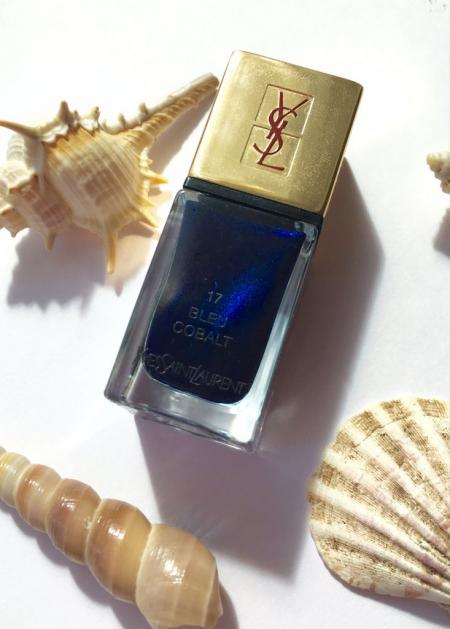Лак для ногтей LA LAQUE COUTURE (оттенок № 17 Bleu Cobalt) от YSL