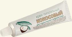 """Крем питательный """"Кокосовый"""" для нормальной и жирной кожи от Концерн Калина"""