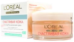"""Суперувлажняющий крем для нормальной и смешанной кожи """"Счастливая кожа"""" от L'Oreal"""