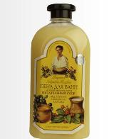 Пена для ванн на основе мыльного корня.Питательный сбор (мёд,молоко,княженика,голубика) от Рецепты бабушки Агафьи