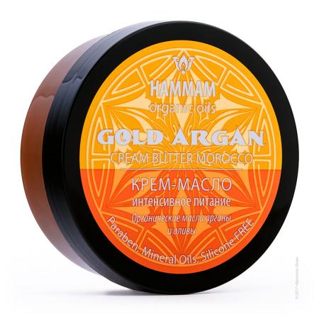 Марокканское крем-масло Gold Argan интенсивное питание серии Hammam organic oils от Natura Vita