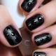 Дизайн ногтей с чёрным цветом