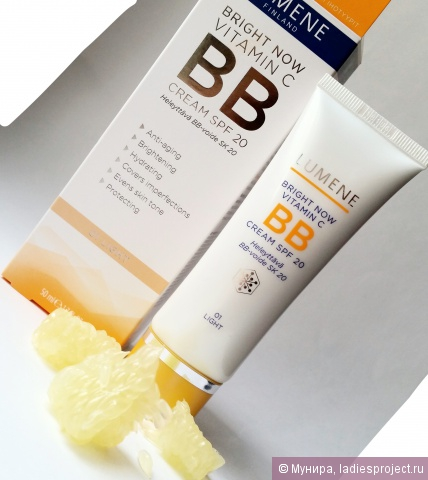 Придающий сияние и выравнивающий тон кожи BB крем Bright Now Vitamin C SPF 20 от Lumene фото 1