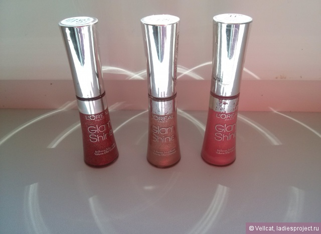 Блеск для губ Glam Shine (оттенки №05 Mercury Crystal, №06 Sand Crystal, № 11 Rose Crystal) от L'Oreal фото 1