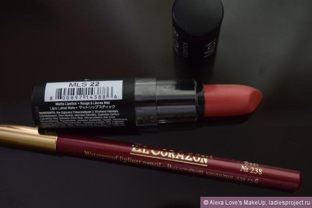 Матовая губная помада Matte Lipstick (оттенок MLS 22 Strawberry Daiquiri) от NYX фото 9