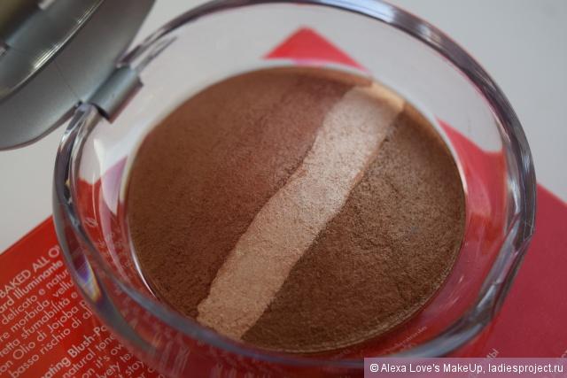 Румяна-пудра со светоотражающими частицами Luminys baked all over (оттенок № 04 Red gold) от Pupa фото 4
