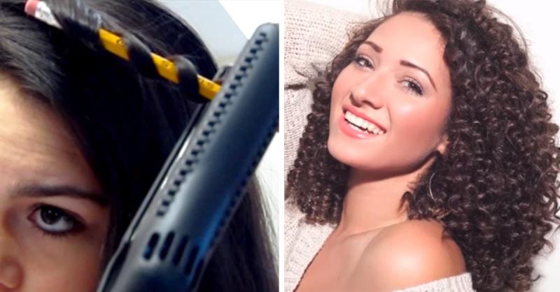 Как накручивать волосы на утюжок на короткие длинные чтобы держались кудри
