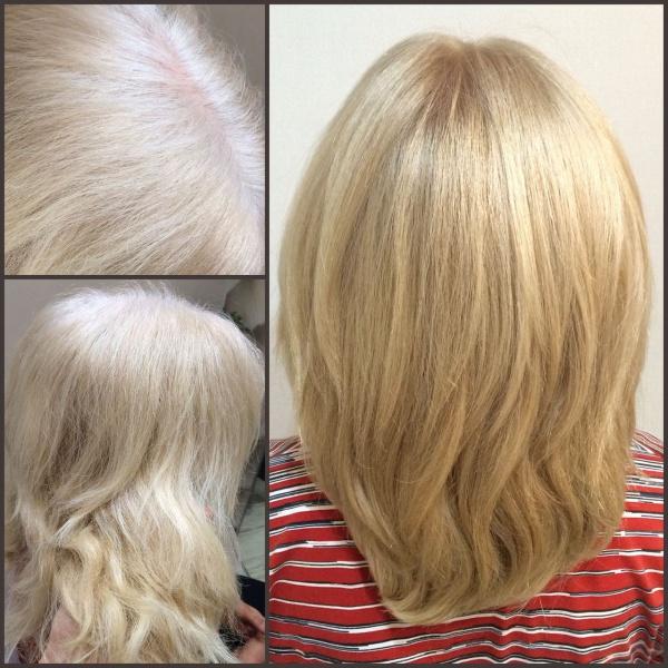 Варианты мелирования для седых волос
