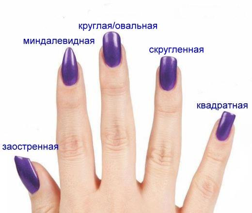 Острый миндаль форма ногтей