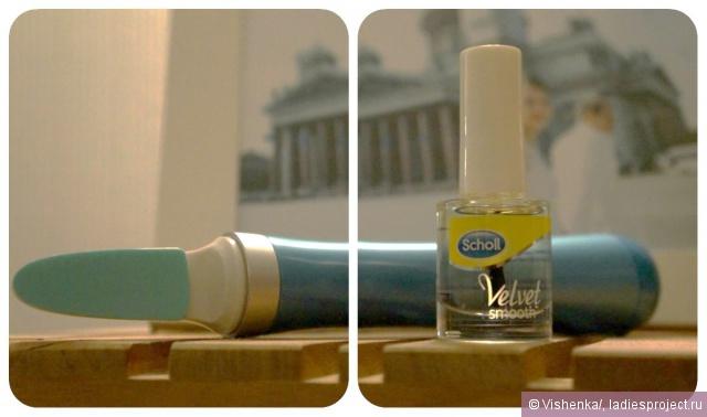 Электрическая пилка для ногтей Velvet Smooth от Scholl  фото 1