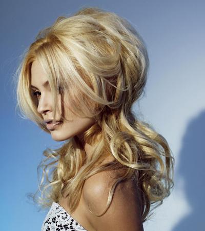 Стильные прически на длинные волосы блондинки6
