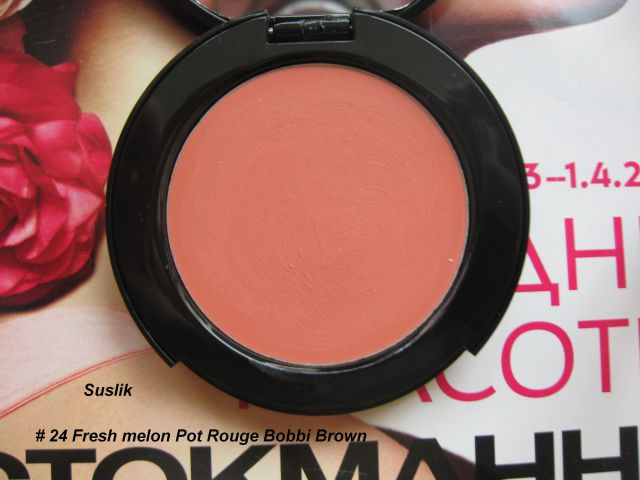 Кремовые румяна Pot Rouge for lips & cheeks (оттенок № 24 Fresh melon) от Bobbi Brown фото 3