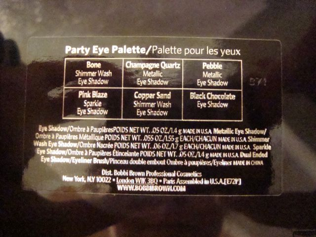 Палетка теней Party Eye Palette (Limited Edition) от Bobbi Brown фото 8