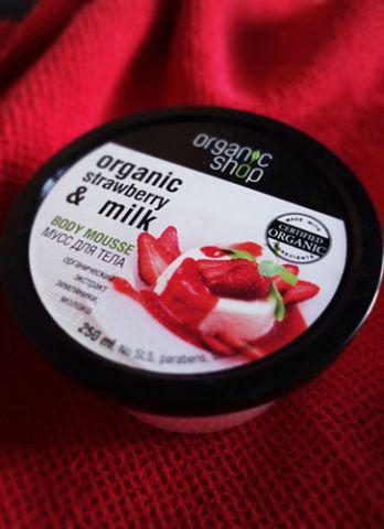 "Мусс для тела ""Organic Strawberry & Milk"" от Organic Shop фото 1"