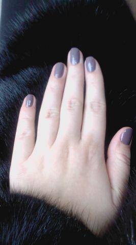 Ногти серый с золотом фото