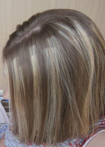 Мелирование на темные волосы неудачное
